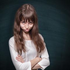 Stubborn schoolgirl