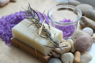 Натуральное мыло с лавандой