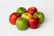 pommes trois couleurs