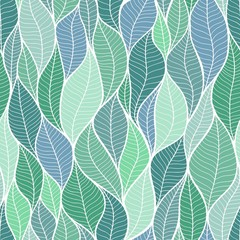 Vector background. The texture of the leaves. Seamless pattern.