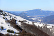 Winter scene in mountains - 76909013