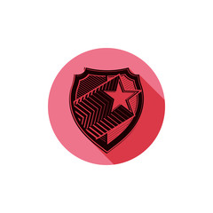 icsinto_243Heraldry theme conceptual icon, protection shield iso