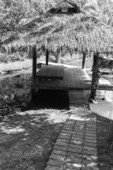 pathway to the gazebo beside the canal