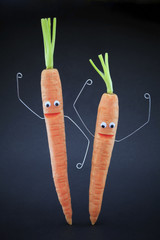 The energy of carrots
