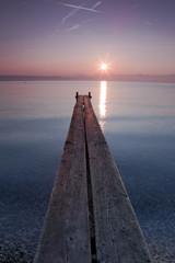 Lever de soleil sur le lac Léman