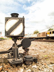 Old light box to signal the train.