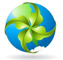 Vector ecological symbol