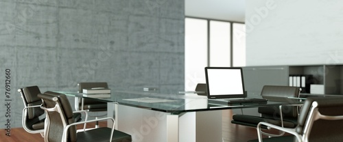 Leinwanddruck Bild modernes Büro Interieur Design