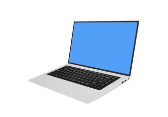 Modern laptop eith black chiclet-style keyboard