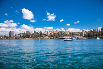 Panoramic view on Manly Beach in Sydney, Australia.