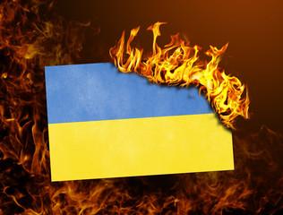 Flag burning - Ukraine
