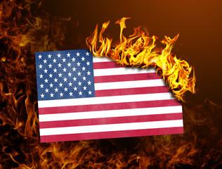 Flag burning - USA
