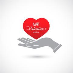 Icon Happy Valentine's Day. Vector.