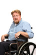 Man Disabilities In Wheelchair
