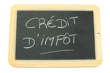 ardoise crédit d'impôt