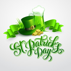 St. Patrick's Day poster. Vector illustration