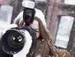 canvas print picture - mädchen mit fotoapparat