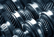 Leinwandbild Motiv Gear metal wheels