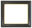 canvas print picture - schwarzer Profilrahmen