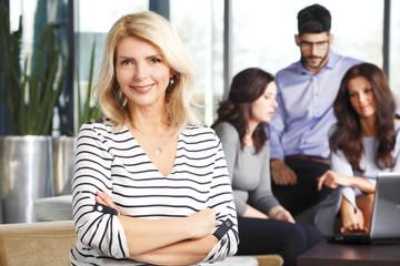 Active senior business woman