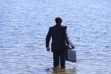 Suicide. Businessman