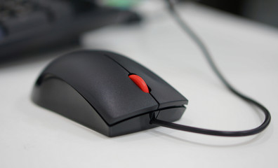 Computer mouse at office