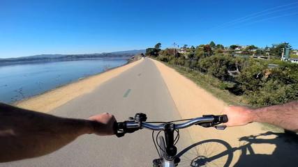 POV cycling exercise healthy activity rural countryside  USA