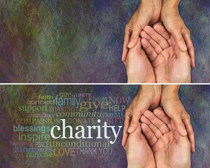 Rustic Charity website banner x 2
