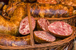 Traditional bio aspic pieces in wicker basket 1