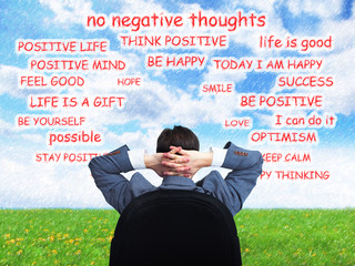 Man positive thinking.