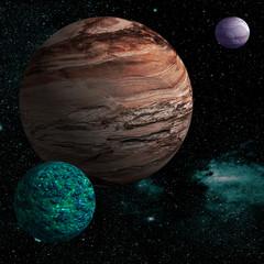 Alien planet.