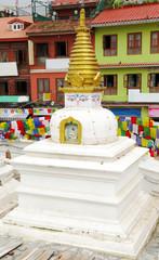 Stupas surrounding the main Swayambhunath Stupa, Nepal