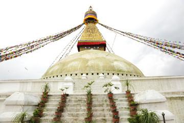 Main shrine of Swayambhunath Stupa