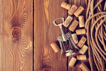 Wine corks and corkscrew
