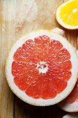 red grapefruit citrus dessert