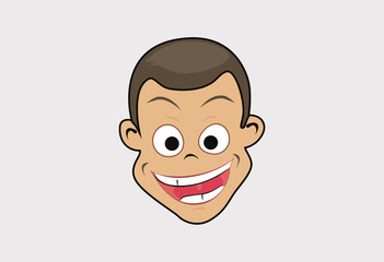 Face humor happy laugh vector
