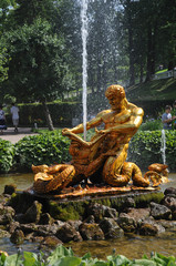 Peterhof fountain Russia