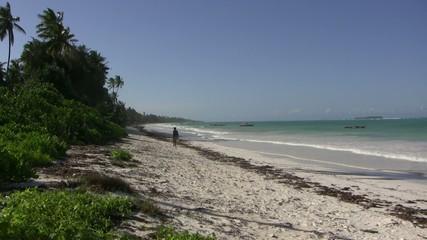 Widok plaży na Zanzibarze