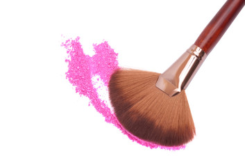 Crisp eyeshadow makeup and brush