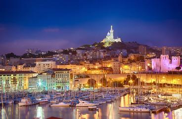 Marseille, France, Vieux Port, Notre Dame de la Garde
