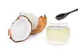 coconut oil isolated on white