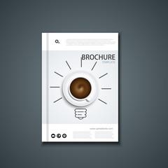 Vector flyer or banner. Brochure template design.