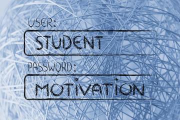 user Student, password Motivation