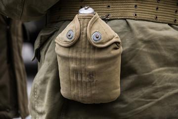 Borraccia di un soldato americano della seconda guerra mondiale