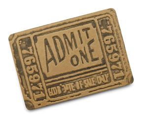 Black Admit One Ticket