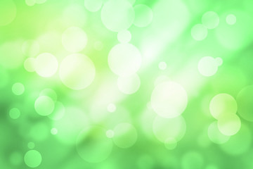 Photo of green circles of light abstract background