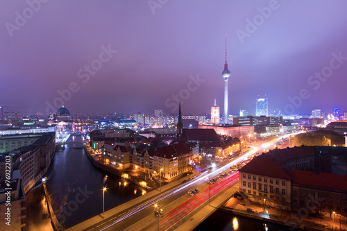 canvas print picture Berlin am Abend