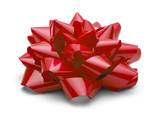 Red Present Bow