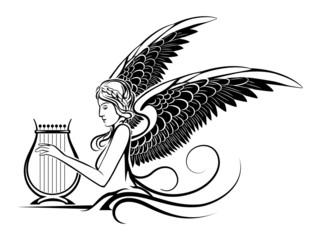 Winged Greek Muse