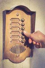 vintage citofono campanello di casa